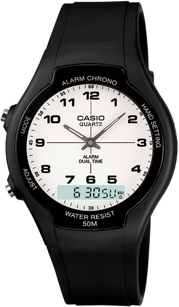 Мужские часы Casio AW-90H-7B casio aw 90h 7b casio