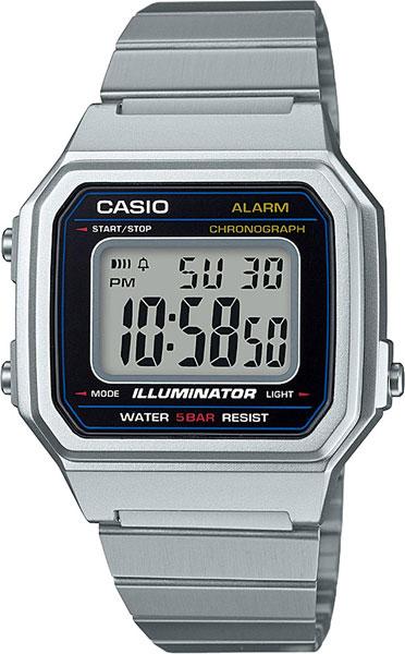 Мужские часы Casio B650WD-1A msk women s beaded shoulders cowl faux wrap jersey dress 12 black white
