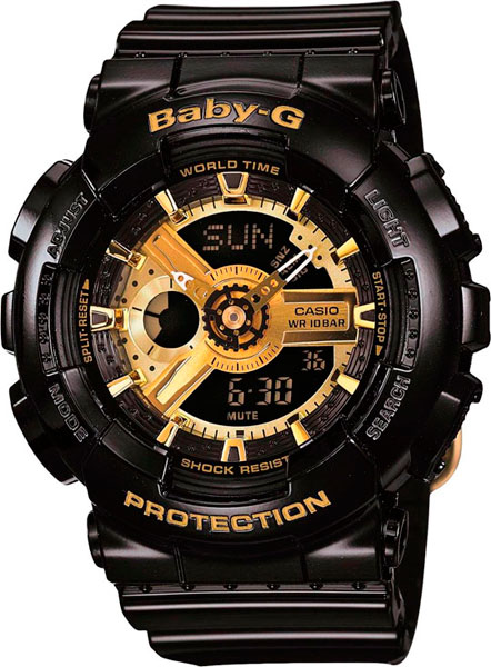Женские часы Casio BA-110-1A наручные часы casio baby g ba 110 1a