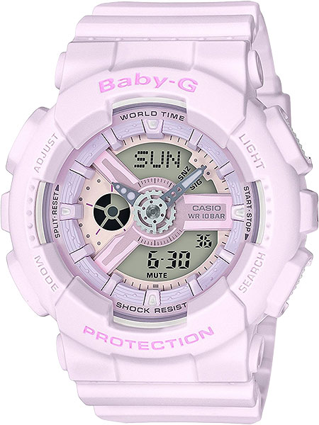 Женские часы Casio BA-110-4A2 часы наручные casio часы baby g ba 120tr 7b