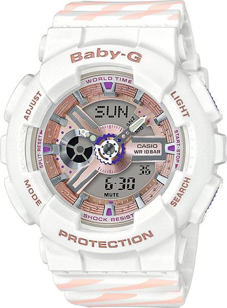 Женские часы Casio BA-110CH-7A casio baby g ba 110tp 7a