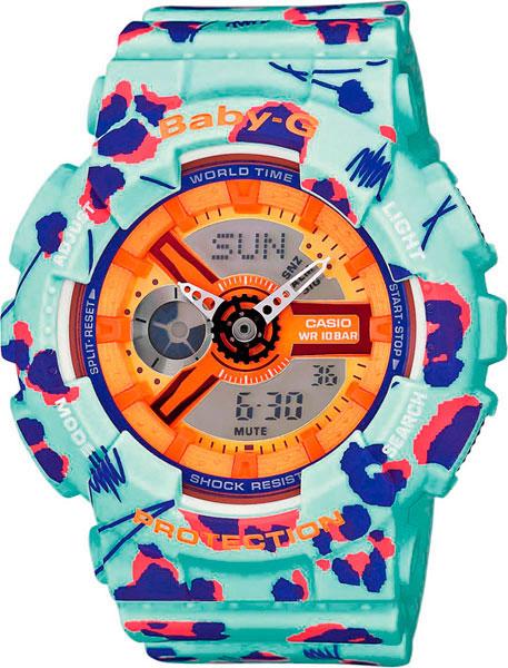 Женские часы Casio BA-110FL-3A casio g shock ba 110fl 3a