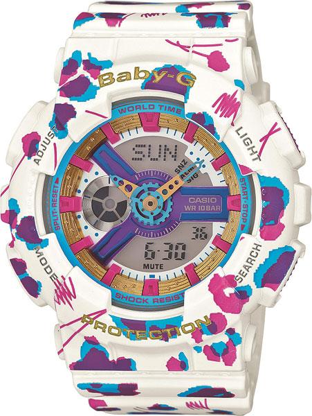 Женские часы Casio BA-110FL-7A часы наручные casio часы baby g ba 110fl 7a
