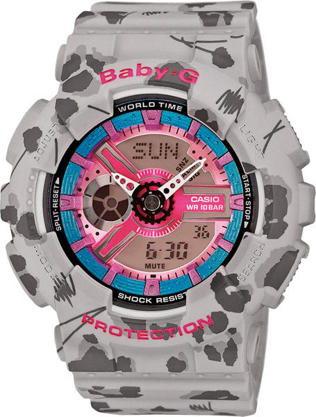 Женские часы Casio BA-110FL-8A casio baby g ba 110fl 8a