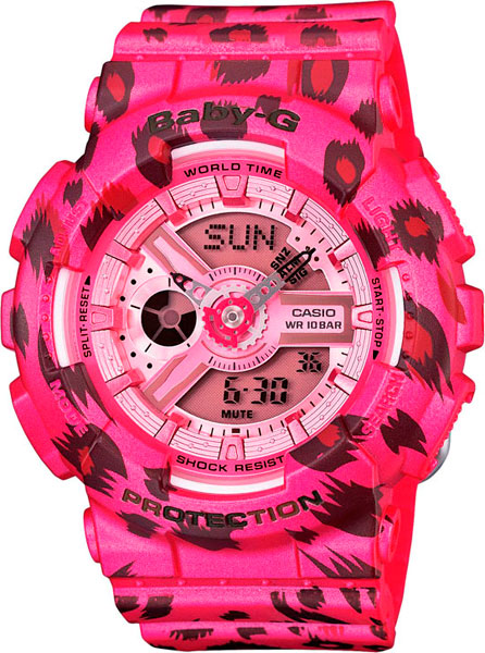 Женские часы Casio BA-110LP-4A часы наручные casio часы baby g ba 120tr 7b