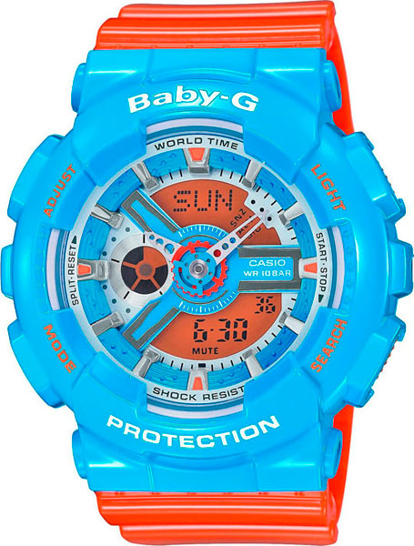 Женские часы Casio BA-110NC-2A casio женские японские наручные часы casio ba 110nc 2a