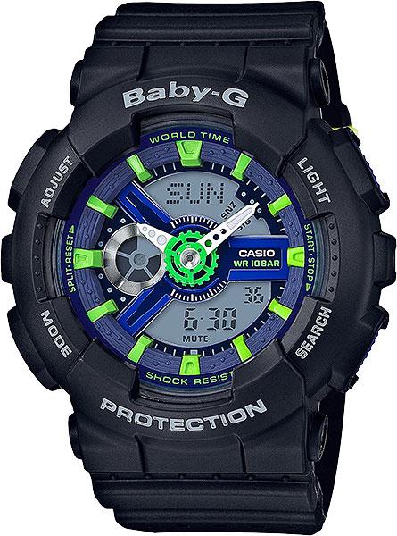 Женские часы Casio BA-110PP-1A часы наручные casio часы baby g ba 120tr 7b