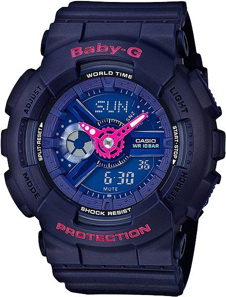 Женские часы Casio BA-110PP-2A часы наручные casio часы baby g ba 120tr 7b