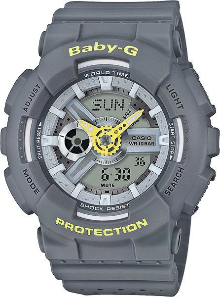 Женские часы Casio BA-110PP-8A часы наручные casio часы baby g ba 120tr 7b