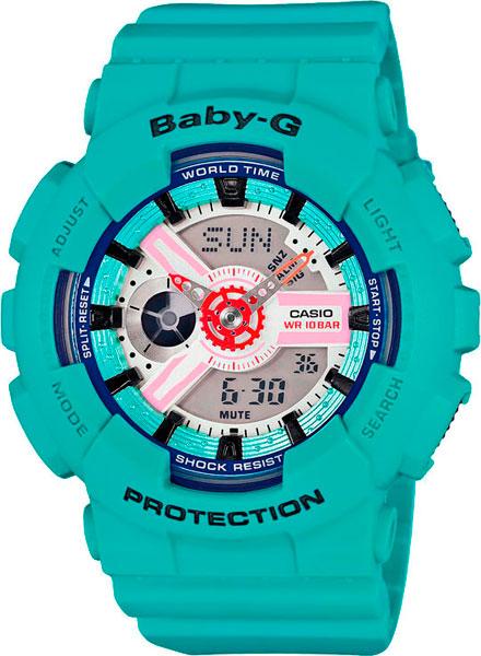 Женские часы Casio BA-110SN-3A casio часы casio ba 110sn 3a коллекция baby g
