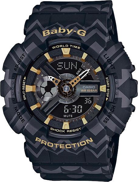 Женские часы Casio BA-110TP-1A часы наручные casio часы baby g ba 120tr 7b