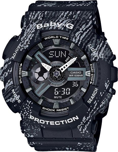 Женские часы Casio BA-110TX-1A часы наручные casio часы baby g ba 120tr 7b