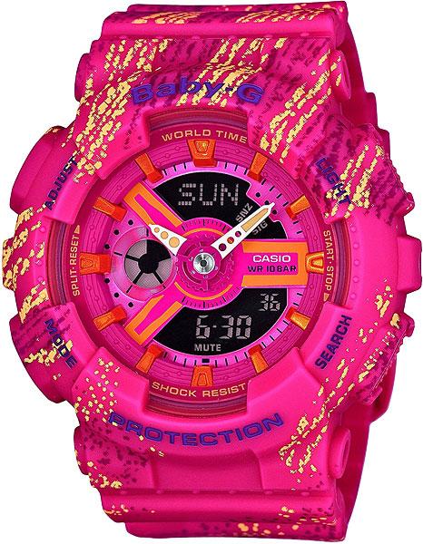 Женские часы Casio BA-110TX-4A женские часы casio ba 110tx 1a