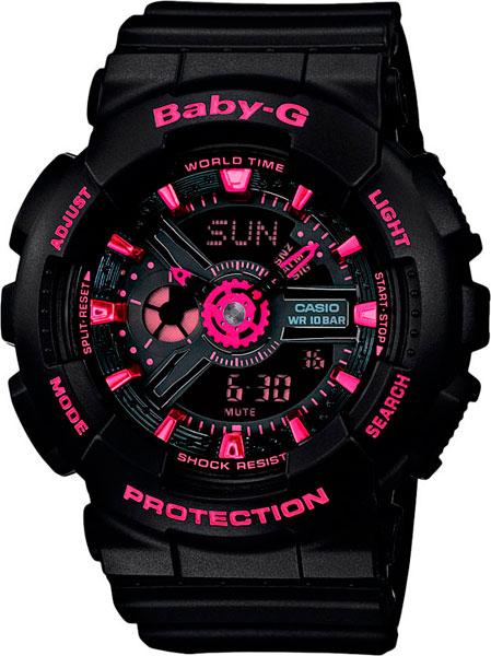 цена Женские часы Casio BA-111-1A онлайн в 2017 году