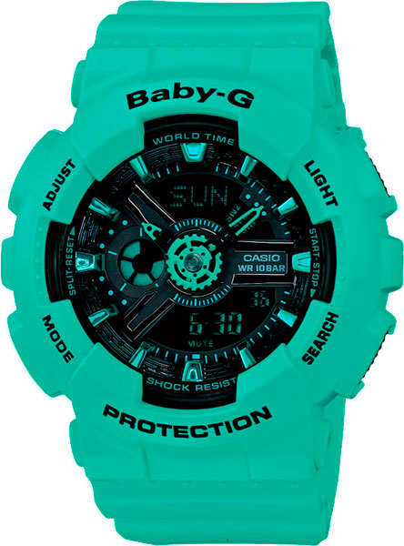Фото - Женские часы Casio BA-111-3A женские часы casio ba 111 1a