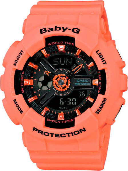 Женские часы Casio BA-111-4A2 часы наручные casio часы baby g ba 120tr 7b