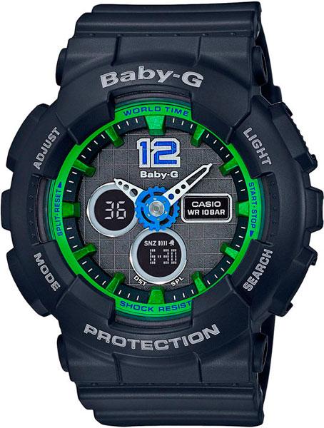 цена Женские часы Casio BA-120-1B онлайн в 2017 году