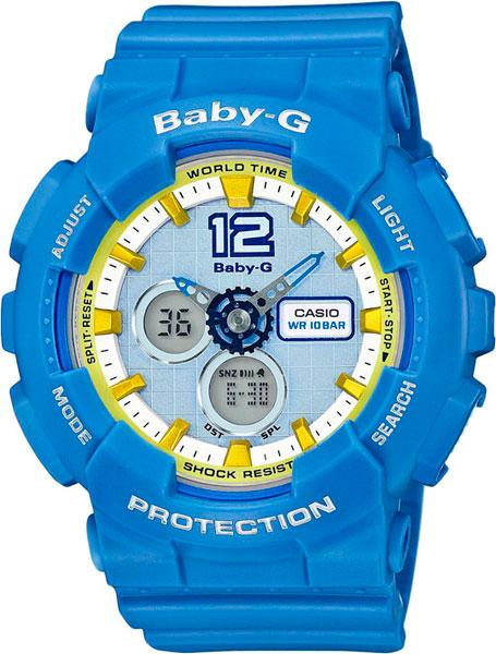 цена Женские часы Casio BA-120-2B онлайн в 2017 году