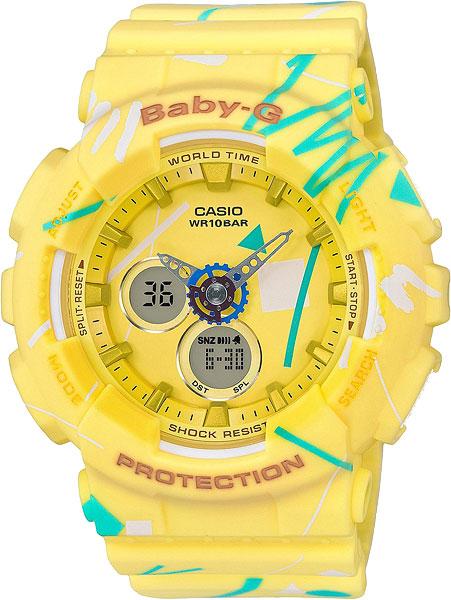Женские часы Casio BA-120SC-9A casio baby g ba 120sc 9a
