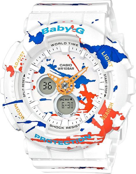 Женские часы Casio BA-120SPL-7A часы наручные casio часы baby g ba 120tr 7b