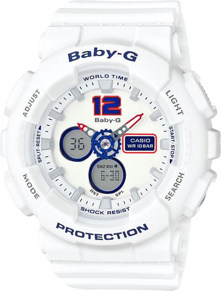 цена Женские часы Casio BA-120TR-7B онлайн в 2017 году