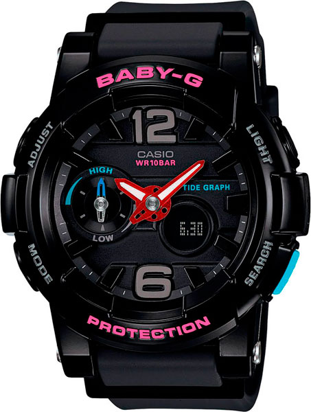 Женские часы Casio BGA-180-1B цена в Москве и Питере