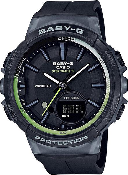 Женские часы Casio BGS-100-1A часы casio bgs 100 9a цв зеленый кварцевые минеральное стекло