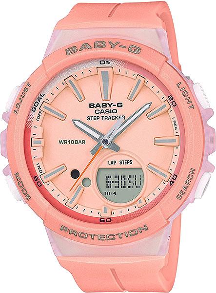 Женские часы Casio BGS-100-4A часы casio bgs 100 9a цв зеленый кварцевые минеральное стекло