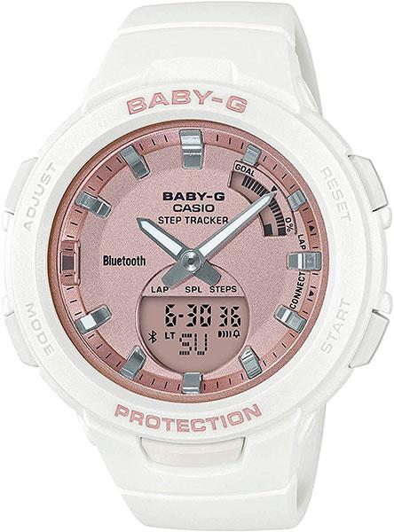 Женские часы Casio BSA-B100MF-7A ноутбук lenovo thinkpad edge 480 20kn005crt intel core i5 8250u 1 6 ghz 8192mb 1000gb no odd intel hd graphics wi fi bluetooth cam 14 0 1920x1080 dos