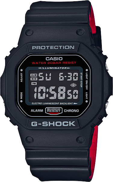 Мужские часы Casio DW-5600HR-1E часы g shock dw 5600hr 1e casio