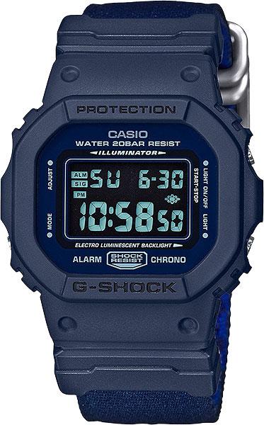 цена Мужские часы Casio DW-5600LU-2E онлайн в 2017 году