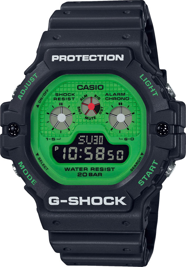 Мужские часы Casio DW-5900RS-1ER casio dw 290 1