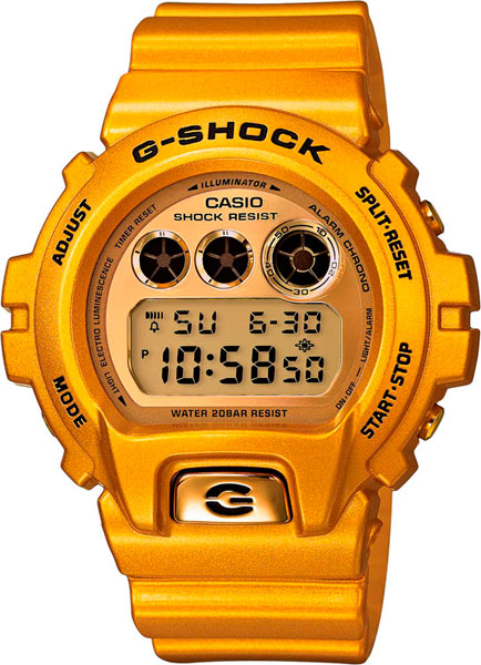 Мужские часы Casio DW-6900GD-9E casio часы casio dw 6900gd 9e коллекция g shock