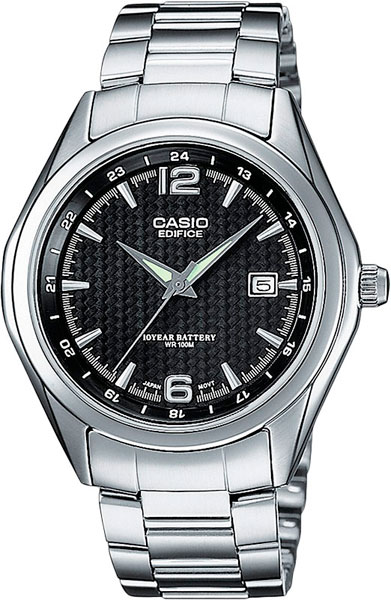 Мужские часы Casio EF-121D-1A раздвижной большой стеклянный обеденный стол кубика нагано 2 стекло стекло темно коричневое венге
