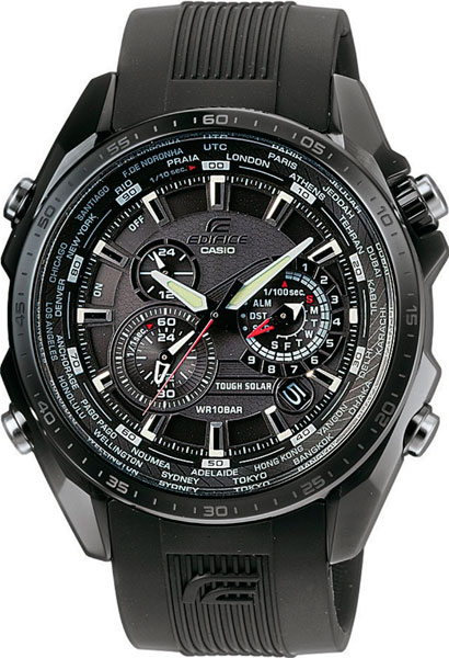 цена Мужские часы Casio EQS-500C-1A1 онлайн в 2017 году