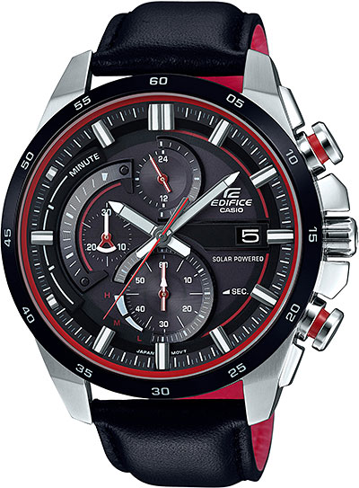 Мужские часы Casio EQS-600BL-1A casio eqs a1000rb 1a