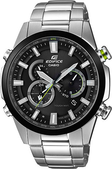 цена Мужские часы Casio EQW-T640DB-1A онлайн в 2017 году