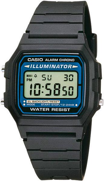 Мужские часы Casio F-105W-1A календарь f 1 2017г