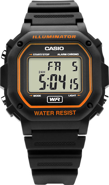Мужские часы Casio F-108WH-8A2 календарь f 1 2017г