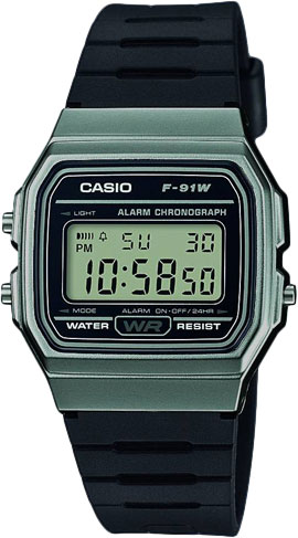 Мужские часы Casio F-91WM-1B