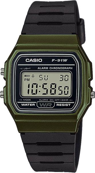 Мужские часы Casio F-91WM-3A casio f 91wm 2a