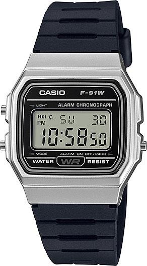 Мужские часы Casio F-91WM-7A casio sheen multi hand shn 3013d 7a