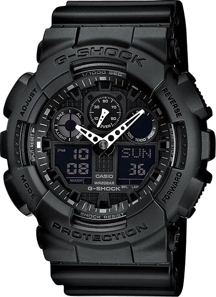 ���������-�������� ������� ���� Casio G-SHOCK GA-100-1A1