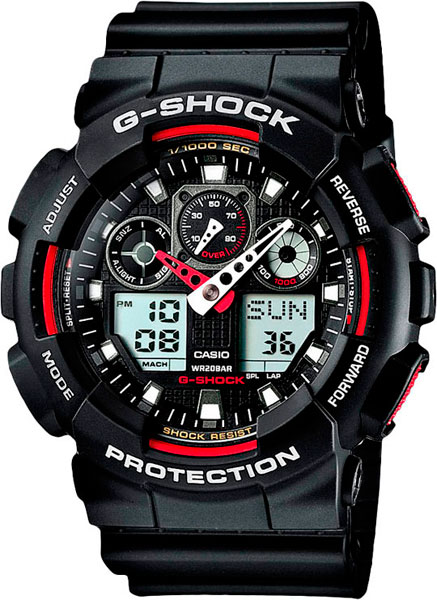 ���������� ��������� �������� ���� �� ������������ ���������� Casio G-SHOCK GA-100-1A4
