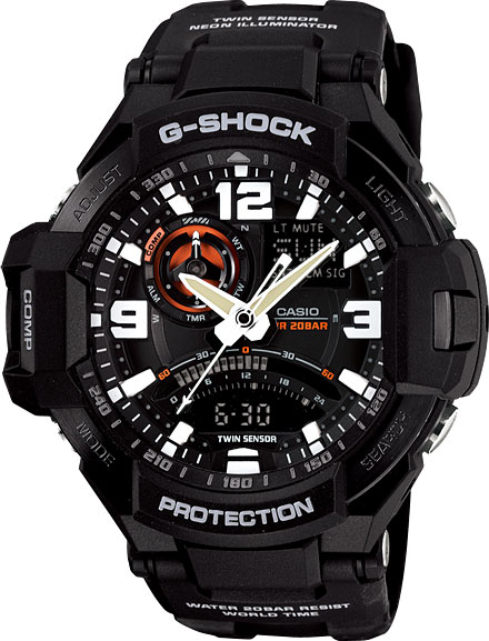 Мужские часы Casio GA-1000-1A casio ga 110rg 1a