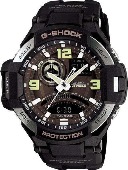 Мужские часы Casio GA-1000-1B casio g shock g classic ga 110mb 1a