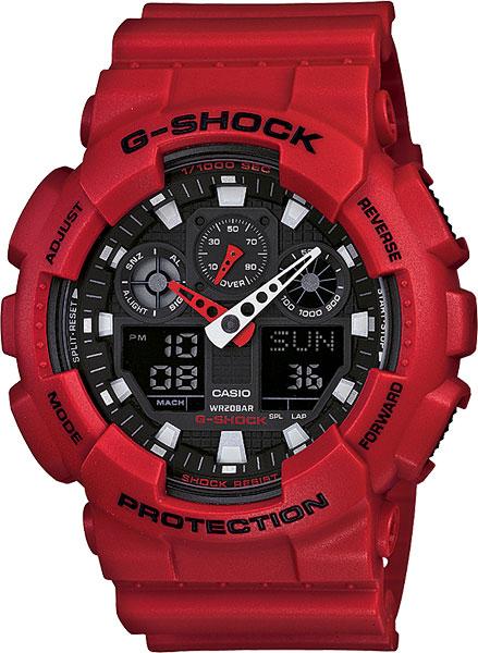 купить Мужские часы Casio GA-100B-4A по цене 8990 рублей
