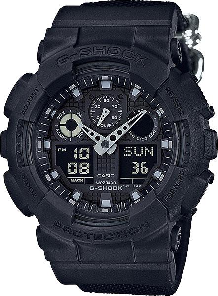 Мужские часы Casio GA-100BBN-1A casio g shock ga 100bbn 1a