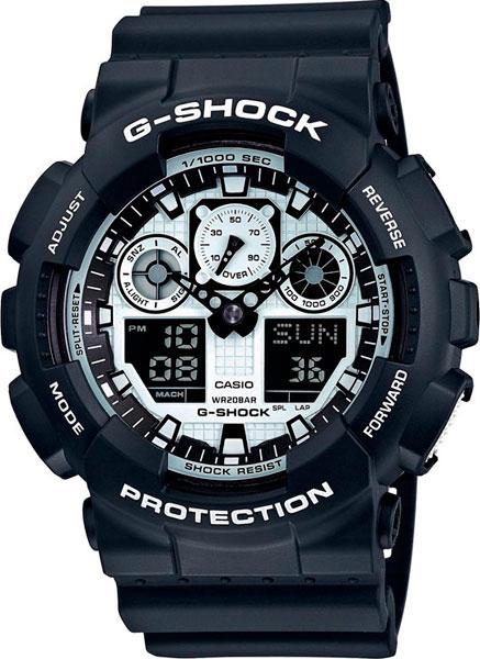 цена Мужские часы Casio GA-100BW-1A онлайн в 2017 году