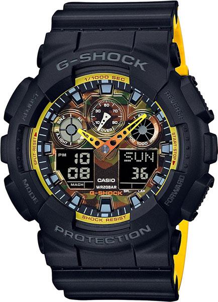 цена Мужские часы Casio GA-100BY-1A онлайн в 2017 году